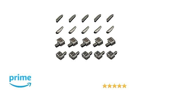 30 Sets #5 Metal Zipper Latch Slider Retainer Insertion Pin Zipper Bottom Zipper Stopper for Metal Zipper Repair Bronze