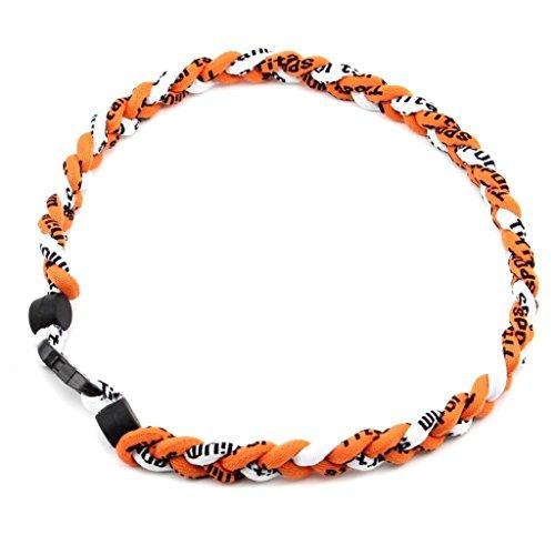 de baseball de Orange tornade corde titane HuaYang Blanc 3 tressée colliers sport Orange de sports TnRAPXqwS