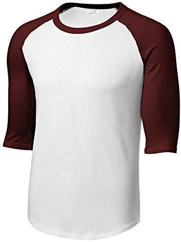 Joe's USA Mens 3/4 Sleeve 100% Cotton Baseball Tee Shirt,S - Jersey Baseball Joe