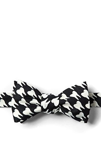 Dentists' Teeth Black Microfiber Butterfly Bow Tie