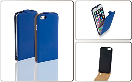 Yayago Étui à rabat en cuir pour Apple iPhone 6 Plus / iPhone 6s Plus, Couleur bleu