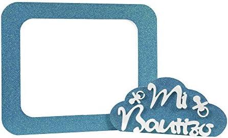 Pack Bautizo Purpurina 70cmx60cm | Photocall y Nube Azul para Decoracion de Baby Showers | Elegante y Económico: Amazon.es: Bebé