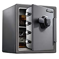 The SentrySafe SF123ES Fireproof Safe is UL Classified to protect your valuables from fire damage for up to 1 hour at 1700° F. For added security, this safe also offers 60% bigger bolts than traditional safes and a pry-resistant door hinge.  ...