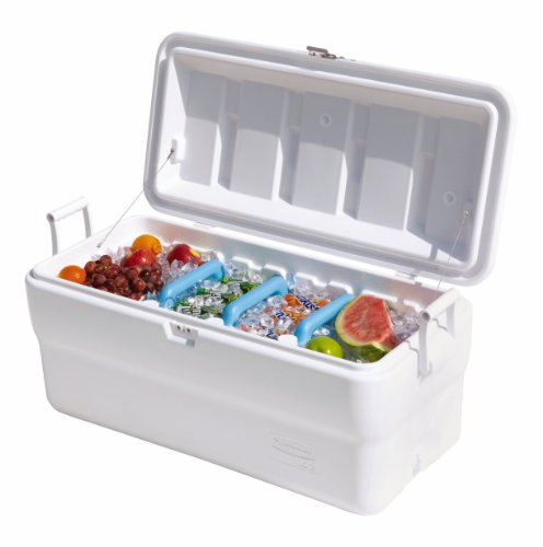 Rubbermaid Gott Marine Cooler / Ice Chest, 102-quart, White by Rubbermaid