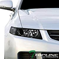 Topline Autopart Black Clear Housing Projector Headlights...