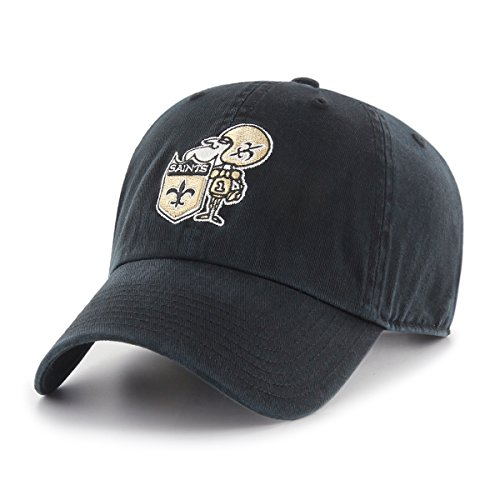 OTS NFL New Orleans Saints Legacy Challenger Adjustable Hat, One Size, Black