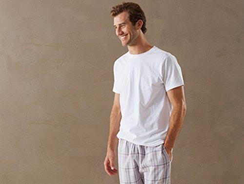 Coyuchi Men'S Organic Cotton Plaid Pajama Pant Large - Grey Plaid