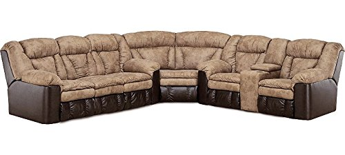 Lane Talon Sectional with Wedge, Double Reclining Sofa and Double Reclining Loveseat with Storage. (Sectional Wedge)