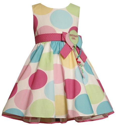 Bonnie Jean Little Girls' Multi Dot Birthday Dress
