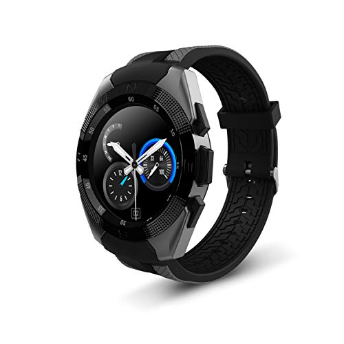 Smart Watch,Wonbo Bluetooth Touchscreen Waterproof Sports Smartwatch, Music Player & Fitness Heart Rate Tracker Sleeping Monitor,Make Call/SNS Notification Watch Compatible with IOS and Android (Gray)