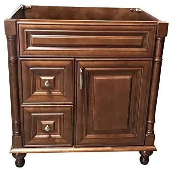 Maple Walnut solid wood Single Bathroom Vanity Base Cabinet 30