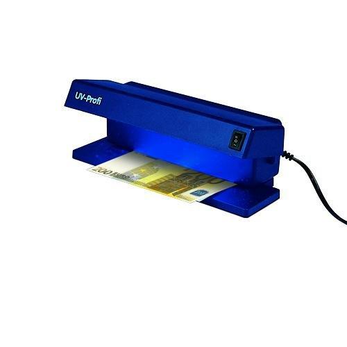 SAFE Nr. 1034 SAFE UV PROFI Prüfgerät mit 6 W UV Auflichtröhre und Weißlicht von unten getrennt zuschaltbar - Ideal zum prüfen von Briefmarken Geldscheinprüfer Banknotenprüfer - Für jede Kasse oder den Kassenbereich ein MUß