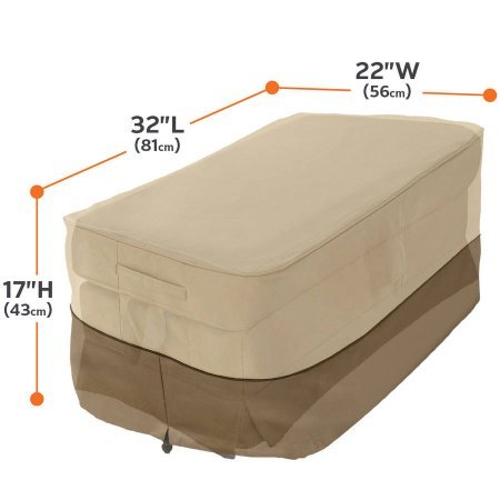 Veranda Patio Ottoman and Table Cover, Small Rectangular, fits up to 32''L x 22''W??