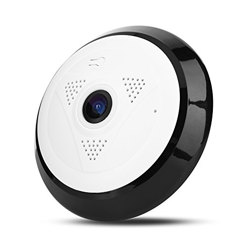 (Bewinner 1080P WiFi Camera, 1080P Mini WiFi Spy Camera with Fish Eye Lens 360 ° Infrared Night Vision Camera Supports TF Cards Up to 128G)