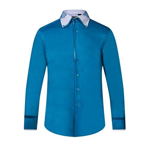 Robelli Rayure By Homme Coton Satin T Qualité shirt Bleu Ou awqRdzwv