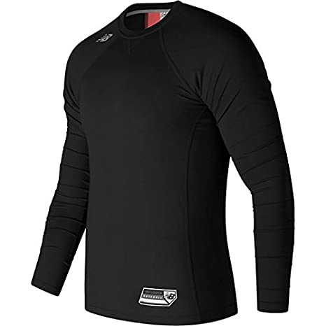 New Balance Men's Long Sleeve 3000 Baseball Top, 3X-Large, Black