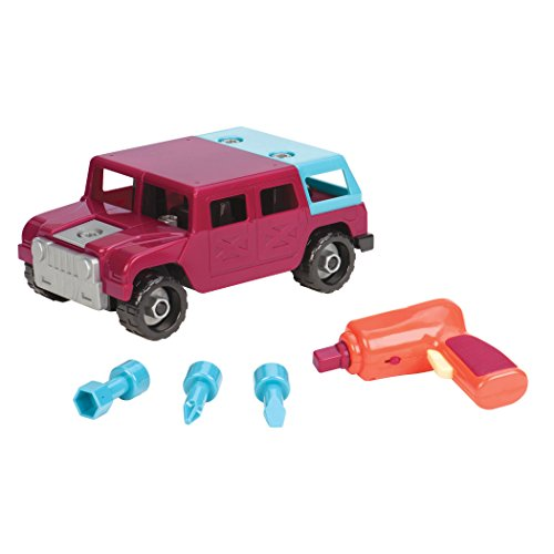 Glitter Girls by Battat Battat Take-A-Part Toy Vehicles 4x4, Maroon