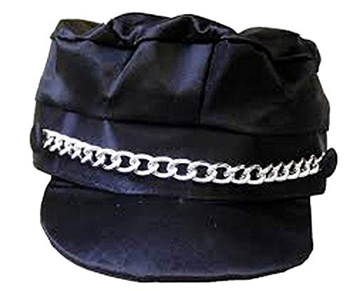 Forum Novelties Men's Adult Biker Hat Costume Accessory, Black, One -