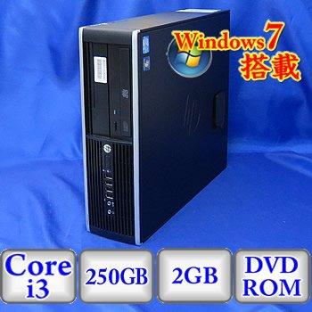 【格安saleスタート】 【中古デスクトップパソコン】HP HP HP Compaq 6200 PC Pro SFF DVD-ROM(B0224D060) PC [A3L38PA#ABL] -Windows7 Professional 32bit Core i3 3.3GHz 2GB 250GB DVD-ROM(B0224D060) B01E8BNXAK, 安心安全のがんばる館:c8ddb2b5 --- arbimovel.dominiotemporario.com