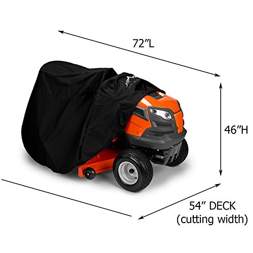 """Himal Outdoors Lawn Mower Cover -Tractor Cover Fits Decks up to 54"""" Storage Cover Heavy Duty 210D Polyester Oxford , UV Protection Universal Fit with Drawstring & Cover Storage Bag-1"""