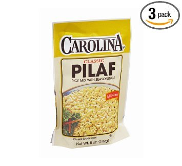 Carolina Classic Pilaf Rice Mix With Seasoning 5 Oz. Pack Of 3.