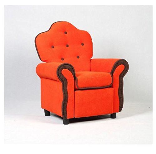 MD Group Kids Sofa Orange PU & Sponge Non-slip Mats Reclining Seat Living Room Furniture by MD Group