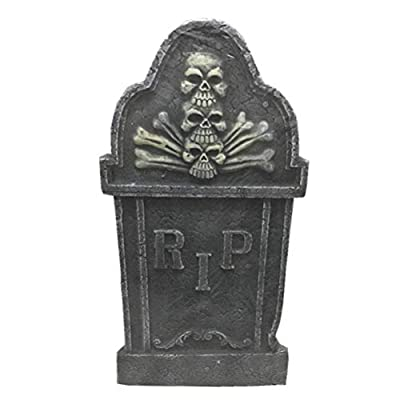 NUOBESTY Unique Shape Stele Foam Simulation Scene Layout Tombstone Voice Control Stone Prop Horror Chamber for Haunted House - 4Pcs, Random Style: Toys & Games
