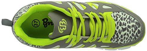 Bruetting Spiridon Glow - Zapatillas de deporte interior Niños Grau/Lemon