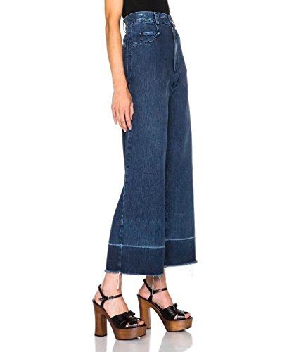 Wanyang Larghi Casuale Pantaloni Profondo A Stretch Palazzo Lunghezza Largo Denim Gamba Blu Donna Jeans Baggy Vita Alta 7gXwn4rg
