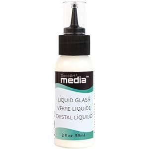 Deco Art Media Liquid Glass, 2-Ounce, Clear