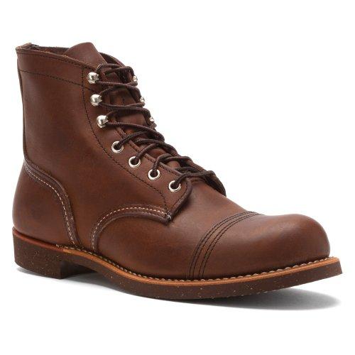 Red Wing Shoes - Zapatos de cordones de cuero para hombre Amber