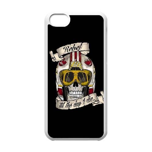 Star Wars Rebel coque iPhone 5c cellulaire cas coque de téléphone cas blanche couverture de téléphone portable EEECBCAAN00029