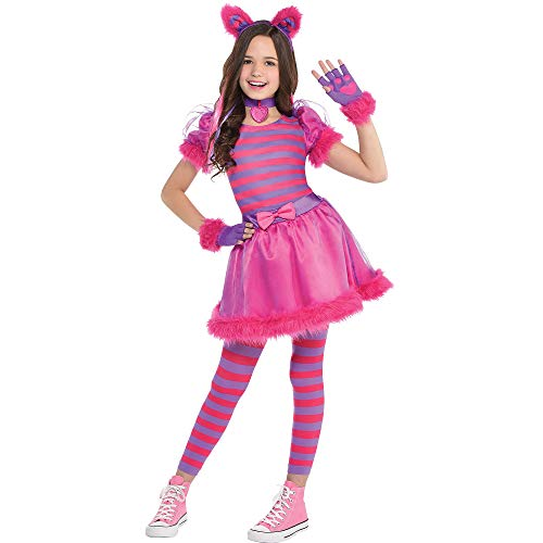 AMSCAN Cheshire Cat Halloween Costume for Girls, Medium, with Included Accessories