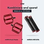 AARON-Rock-Pedali-Mountain-Bike-in-Alluminio-con-Cuscinetti-a-Sfera-sigillati-Antiscivolo-con-Piedini-sostituibili-Superficie-a-Piattaforma-per-Bici-elettrica-MTB-da-Trekking-ECC