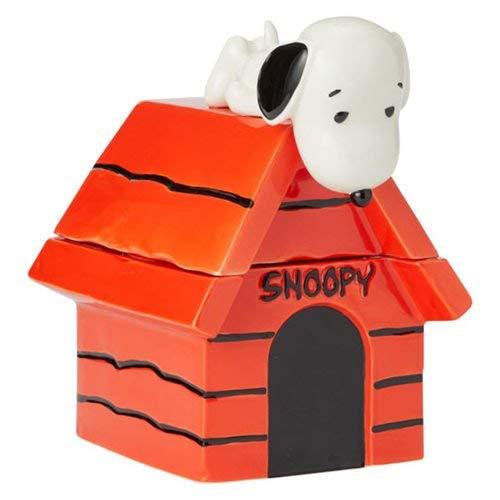 (Enesco 6004161 Peanuts Snoopy on Dog House Cookie Jar 10