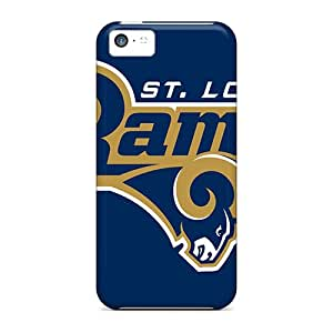 Shock-Absorbing Hard Phone Cover For Iphone 5c (txC13345CYuK) Unique Design Stylish St. Louis Rams Skin