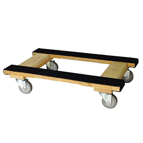 Heavy Duty H Dolly Dual Rail 18 X 30 with 4 Inch CASTERS (18x30)