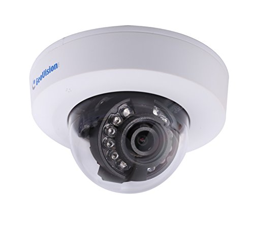 Geovision GV-EFD2100-0F 2MP H.264 Low Lux WDR IR 2.8mm Mini IP Dome Camera - German Company Optical