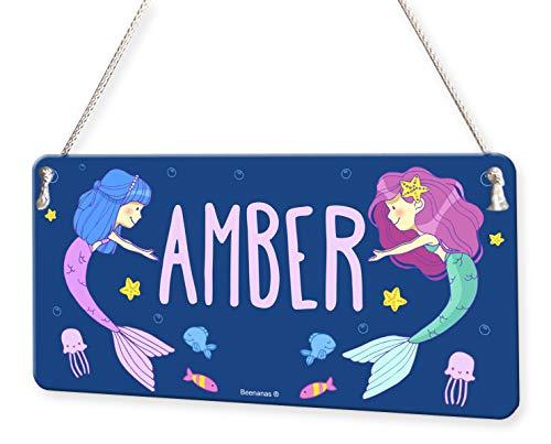 Mermaid Underwater Fish Girls Personalised Childs Bedroom Door Sign Name Plaque
