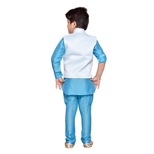 8dffe5e968 AJ Dezines Kids Indian Wear Bollywood Style Kurta Pyjama Waistcoat for Baby  Boys