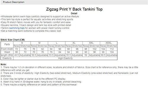 Zigzag Donna Y Block Purple Top Viola Colore Tankini Coral Stampa M LCWORD Verde Costume Da Top Bagno Torna B7tBwvq