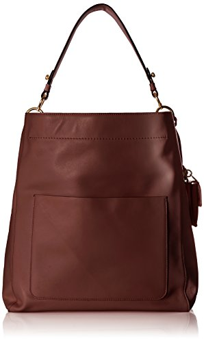 Cole Haan Zoe Bucket Hobo Leather Shoulder Bag, fired ()