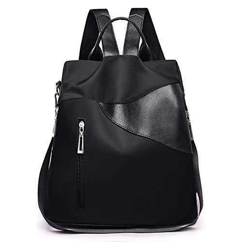 Women Backpack Purse Nylon Anti-theft Ruchsack Watreproof Travel Bag Fashion Leather Backpack Lightweight School Shoulder Bag