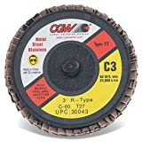 CGW Abrasives 30044 Mini Quick Change TR 3'' T27 80 Grit Ceramic - Pkg Qty 10, (Sold in packages of 10)