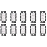 Lutron PD-6WCL-WH Caseta Wireless Smart Lighting Dimmer Switch, White (10 Pack)