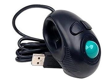 Blueqier Casa Dedo Portátil de Mano con Cable USB Mini Trackball Mouse/Se Adapta a usuarios de Izquierda y Derecha Ideal para Amantes del Ordenador Portátil ...