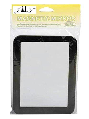 "Magnetic Mirror 5 ¼"" x 7""- Ideal for School Locker, Bathroom, Household Refrigerator, Workshop Toolbox Or Office..."