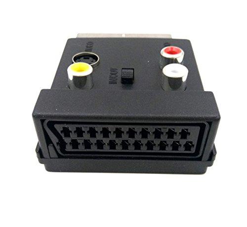 3 RCA AV Female S Video Adapter Converter Duttek Switchable Scart 20 Pin Male to Female