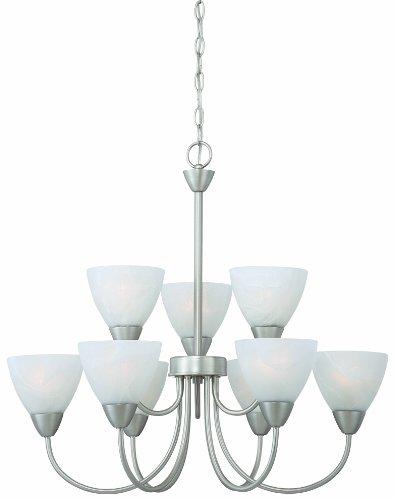 - Thomas Lighting 190036117 Tia Chandelier, Matte Nickel