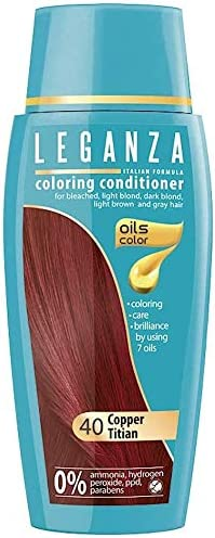 Pack Ahorro de 2 x Tintes Bálsamo para cabello sin ammoniaque color cobre rojo N40, 7 aceites naturales